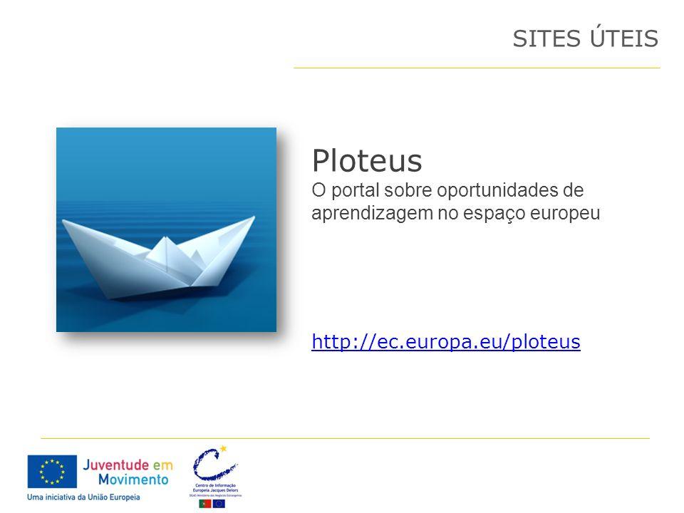 Ploteus O portal sobre oportunidades de aprendizagem no espaço europeu SITES ÚTEIS http://ec.europa.eu/ploteus