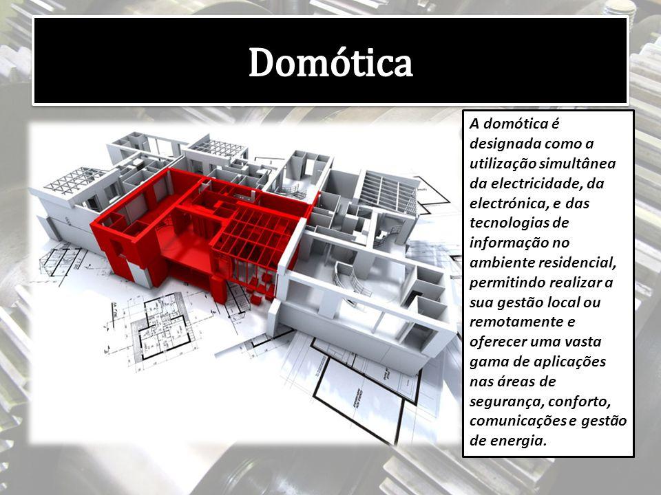 A domótica é designada como a utilização simultânea da electricidade, da electrónica, e das tecnologias de informação no ambiente residencial, permitindo realizar a sua gestão local ou remotamente e oferecer uma vasta gama de aplicações nas áreas de segurança, conforto, comunicações e gestão de energia.