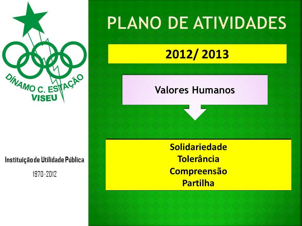 Instituição de Utilidade Pública 1970-2012 2012/ 2013 Valores Humanos Solidariedade Tolerância Compreensão Partilha
