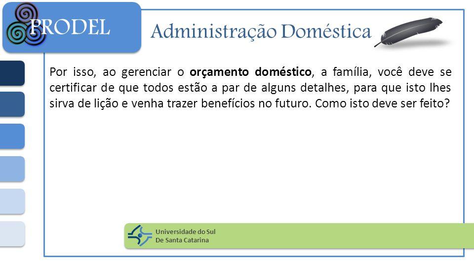 Administração Doméstica Por isso, ao gerenciar o orçamento doméstico, a família, você deve se certificar de que todos estão a par de alguns detalhes,