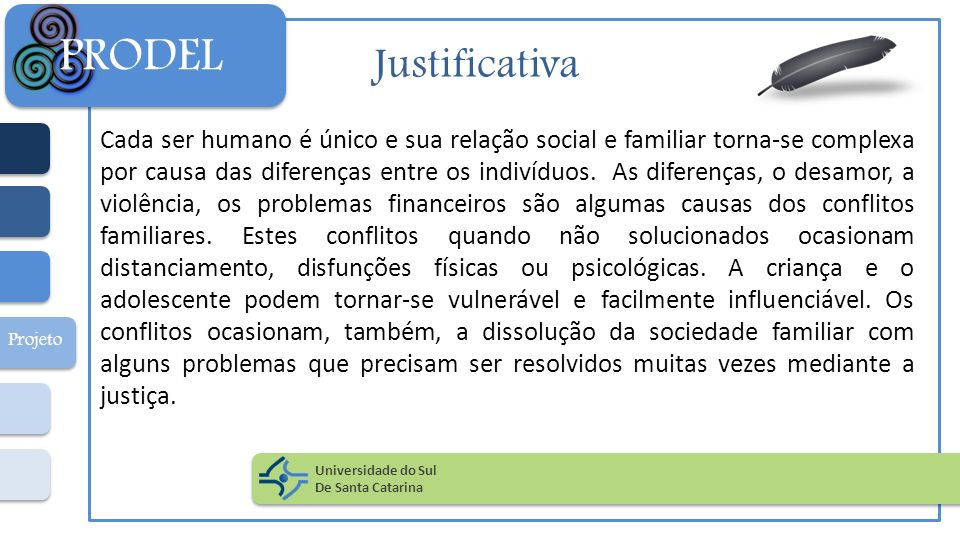 Justificativa Cada ser humano é único e sua relação social e familiar torna-se complexa por causa das diferenças entre os indivíduos. As diferenças, o