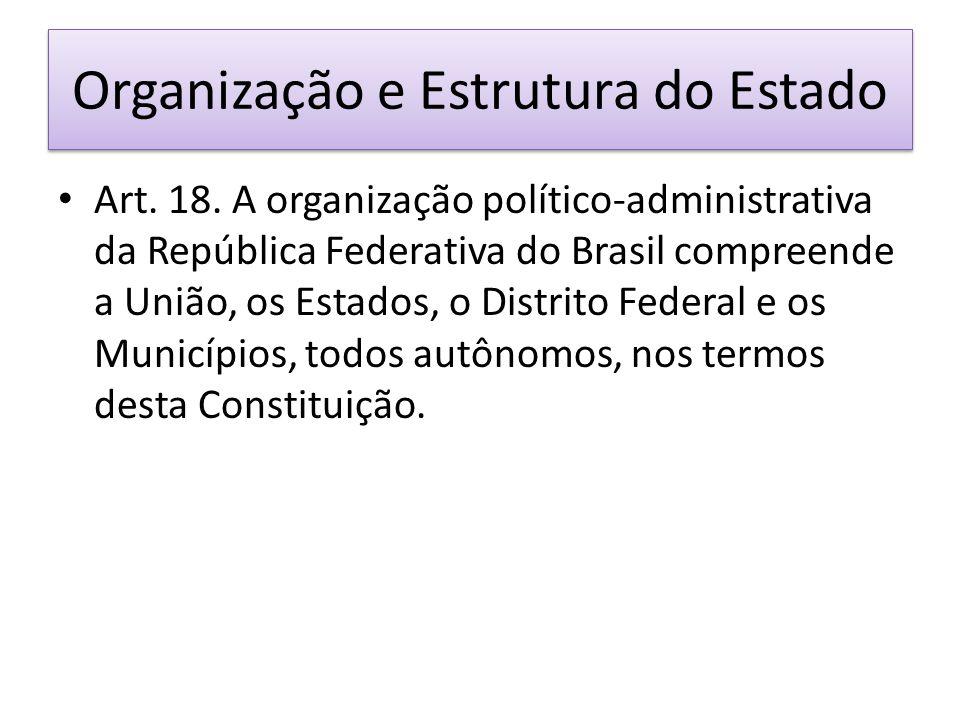 Organização e Estrutura do Estado Art.18.
