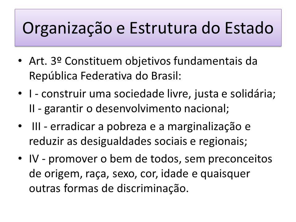 Organização e Estrutura do Estado Art.