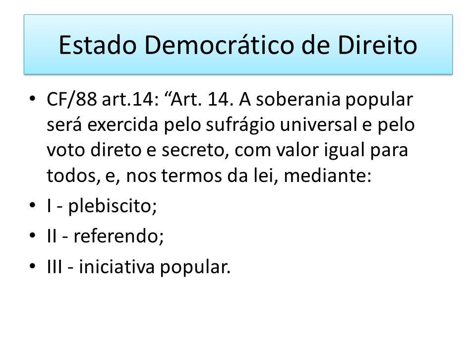 Estado Democrático de Direito CF/88 art.14: Art.14.