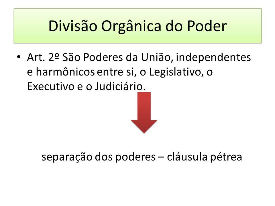 Divisão Orgânica do Poder Art.
