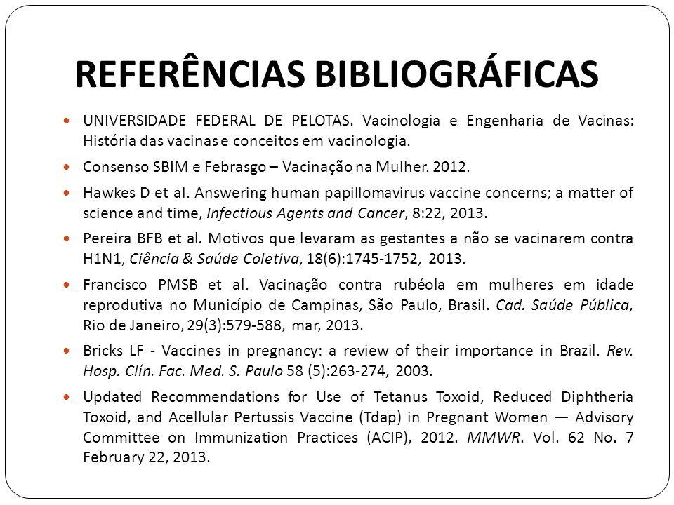 REFERÊNCIAS BIBLIOGRÁFICAS UNIVERSIDADE FEDERAL DE PELOTAS.