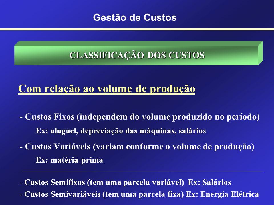 ABC CUSTOS INDIRETOS CUSTOS DIRETOS INICIALMENTE NÃO TÊM DESTINO DESTINO IMEDIATO Gestão de Custos