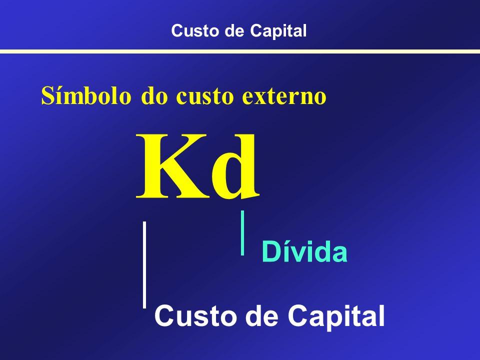 Benefício fiscal... Empresas tributadas por lucro real Custo de Capital
