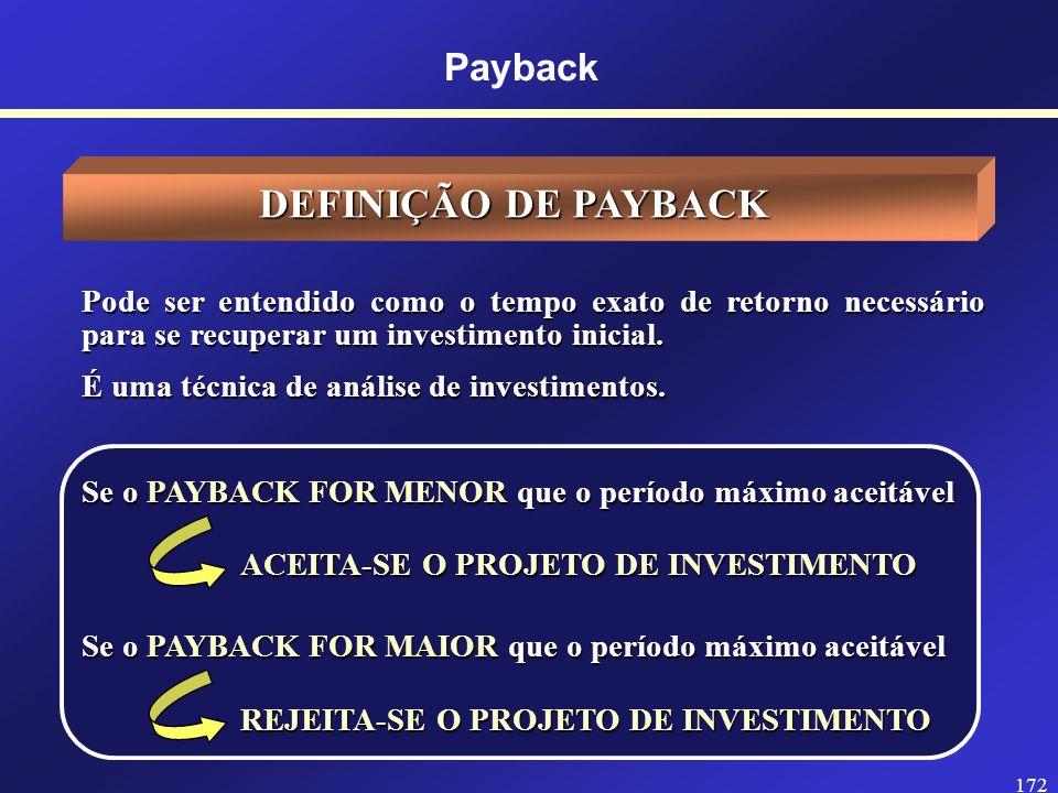 171 Prof. Hubert Chamone Gesser, Dr. Retornar Payback Simples e Payback Descontado