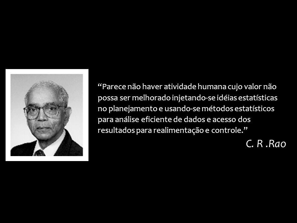 Parece não haver atividade humana cujo valor não possa ser melhorado injetando-se idéias estatísticas no planejamento e usando-se métodos estatísticos