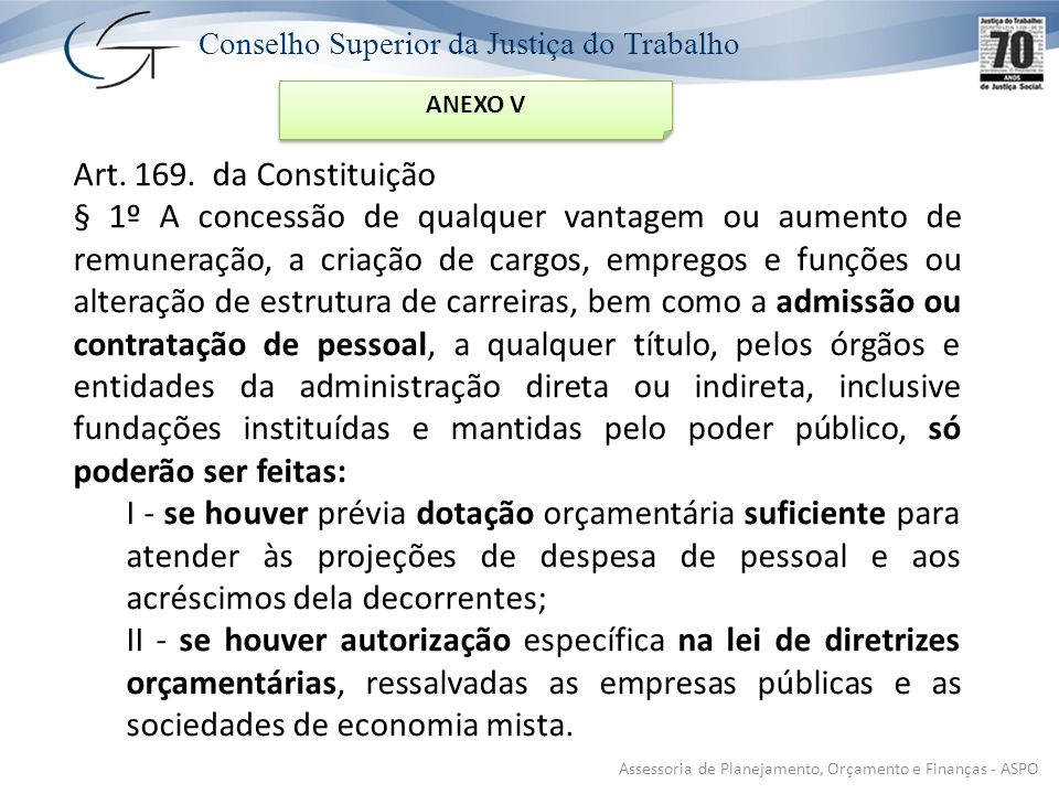Conselho Superior da Justiça do Trabalho Art.169.
