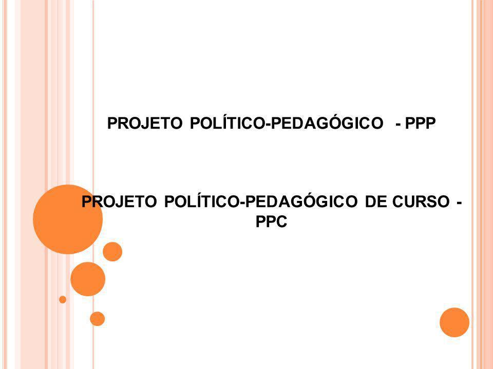 PROJETO POLÍTICO-PEDAGÓGICO - PPP PROJETO POLÍTICO-PEDAGÓGICO DE CURSO - PPC