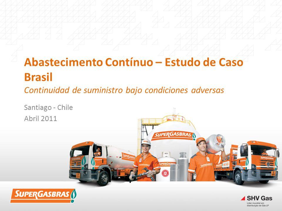 Abastecimento Contínuo – Estudo de Caso Brasil Continuidad de suministro bajo condiciones adversas Santiago - Chile Abril 2011
