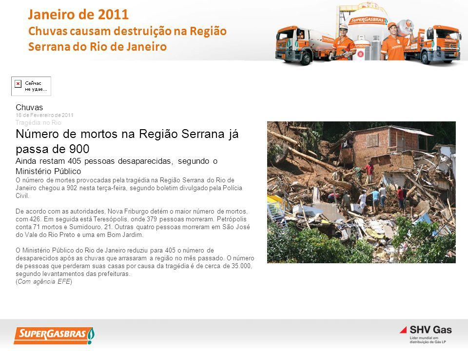 Chuvas 16 de Fevereiro de 2011 Tragédia no Rio Número de mortos na Região Serrana já passa de 900 Ainda restam 405 pessoas desaparecidas, segundo o Mi