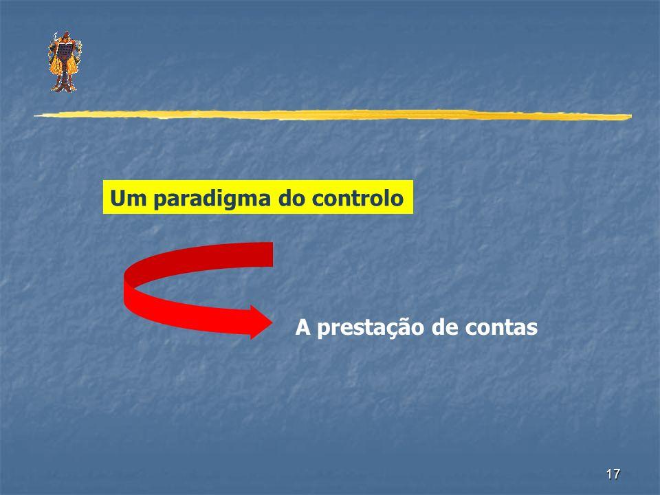 17 Um paradigma do controlo A prestação de contas