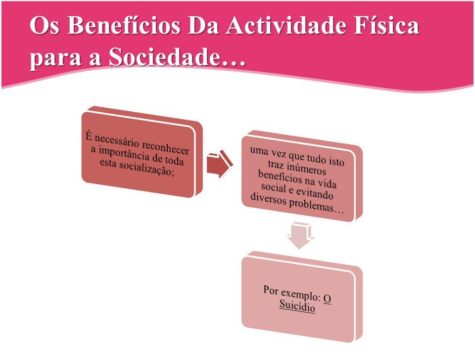 Os Benefícios Da Actividade Física para a Sociedade…