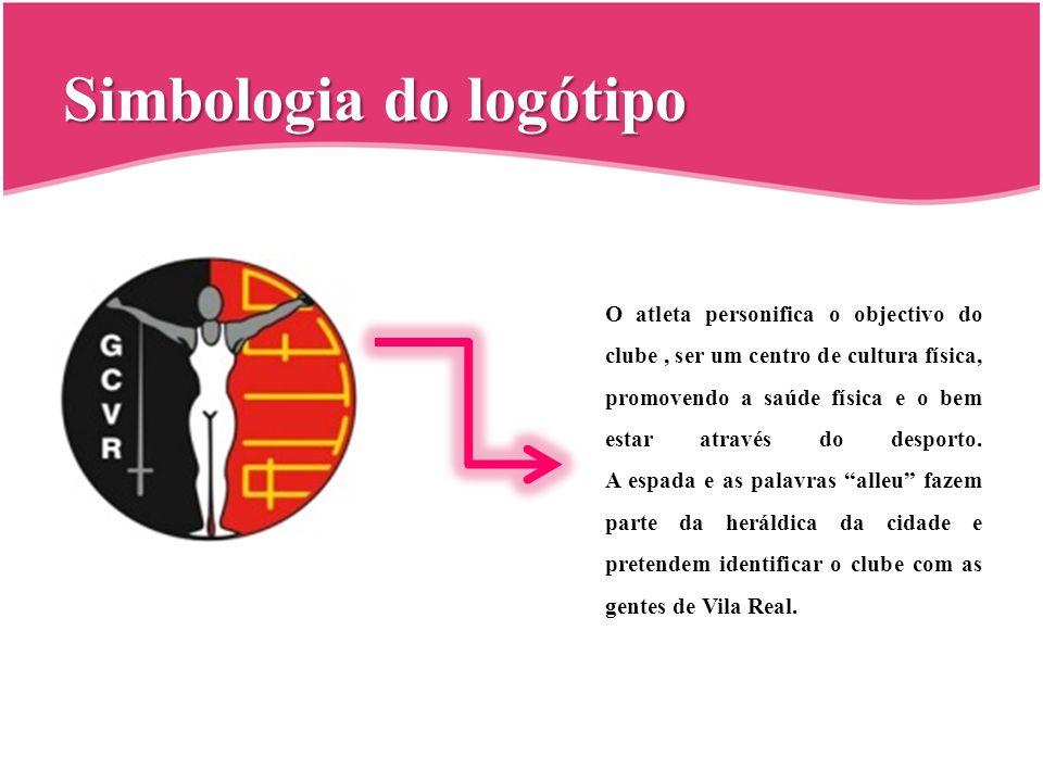 Simbologia do logótipo O atleta personifica o objectivo do clube, ser um centro de cultura física, promovendo a saúde física e o bem estar através do