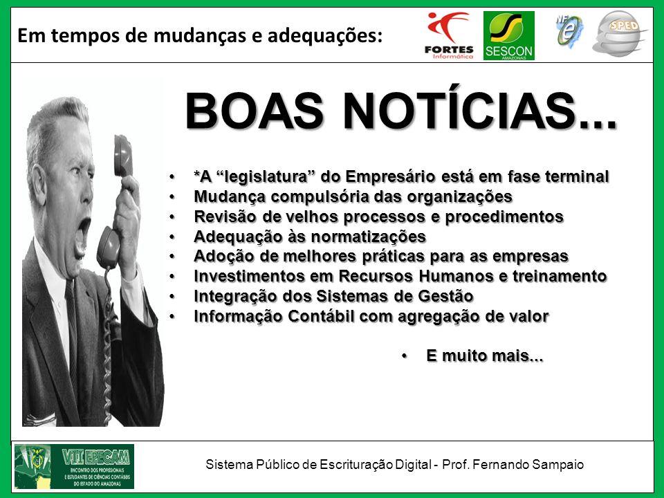 IBPT – Instituto Brasileiro de Planejamento Tributário/2008 Com os novos sistemas de controles fiscais, em 5 anos o Brasil terá o menor índice de sonegação empresarial da América Latina e em 10 anos índice comparado ao dos países desenvolvidos.