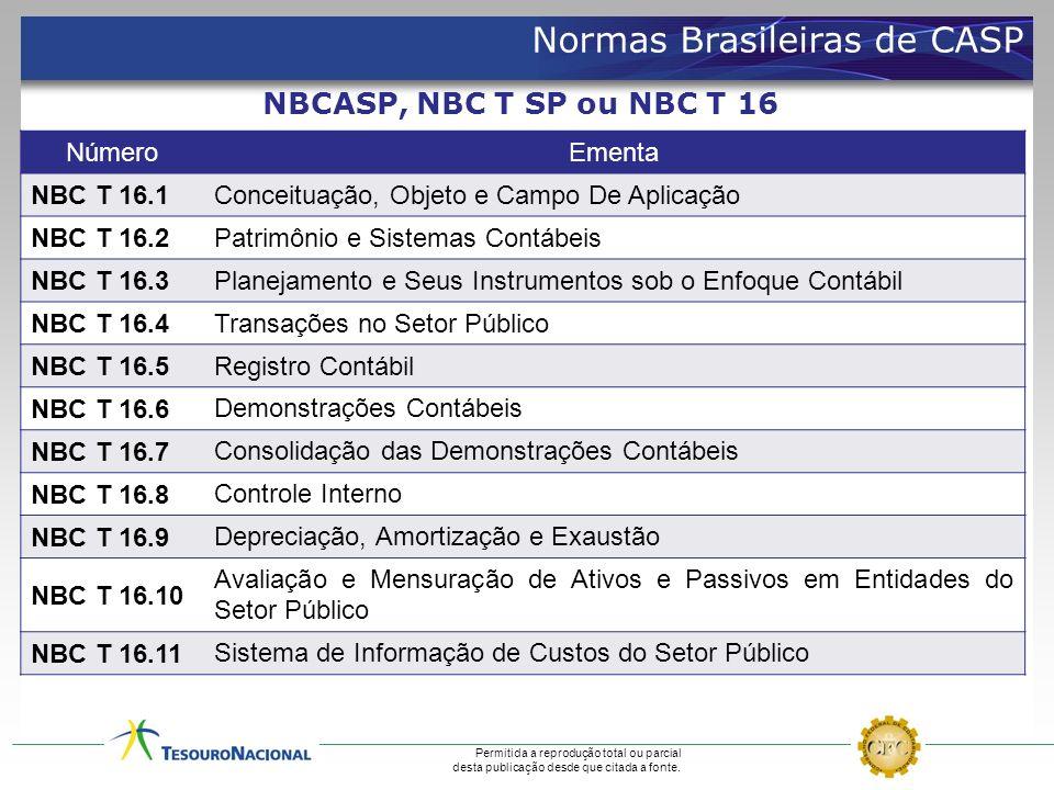 NúmeroEmenta NBC T 16.1 Conceituação, Objeto e Campo De Aplicação NBC T 16.2 Patrimônio e Sistemas Contábeis NBC T 16.3 Planejamento e Seus Instrument
