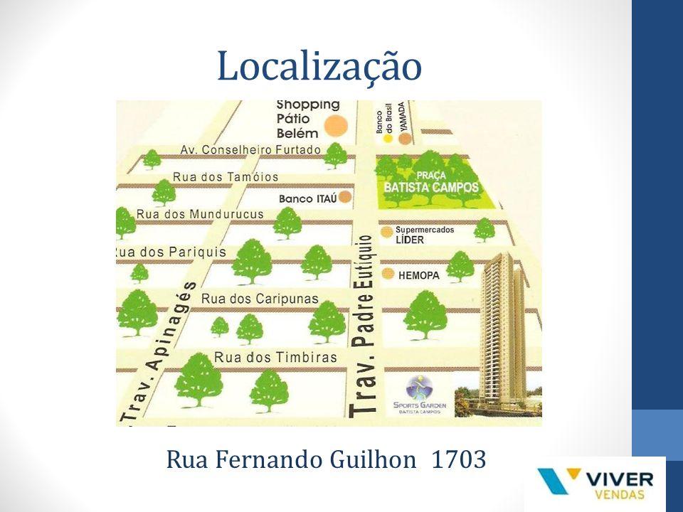 Localização Rua Fernando Guilhon 1703