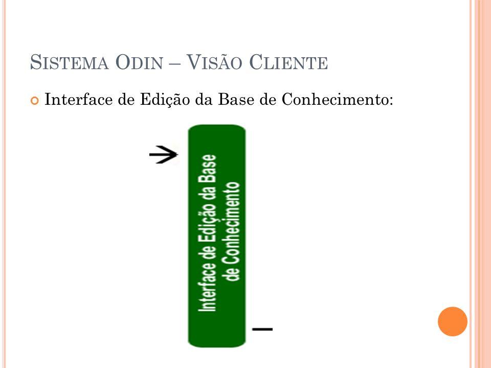 Interface de Edição da Base de Conhecimento: