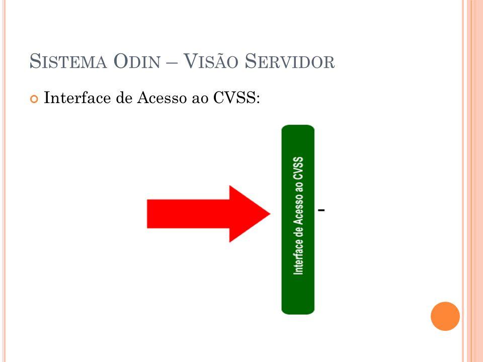 S ISTEMA O DIN – V ISÃO S ERVIDOR Interface de Acesso ao CVSS: