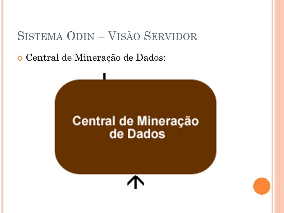 S ISTEMA O DIN – V ISÃO S ERVIDOR Central de Mineração de Dados: