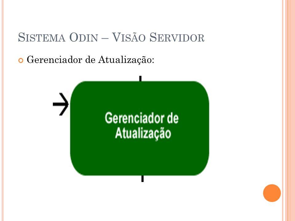 S ISTEMA O DIN – V ISÃO S ERVIDOR Gerenciador de Atualização: