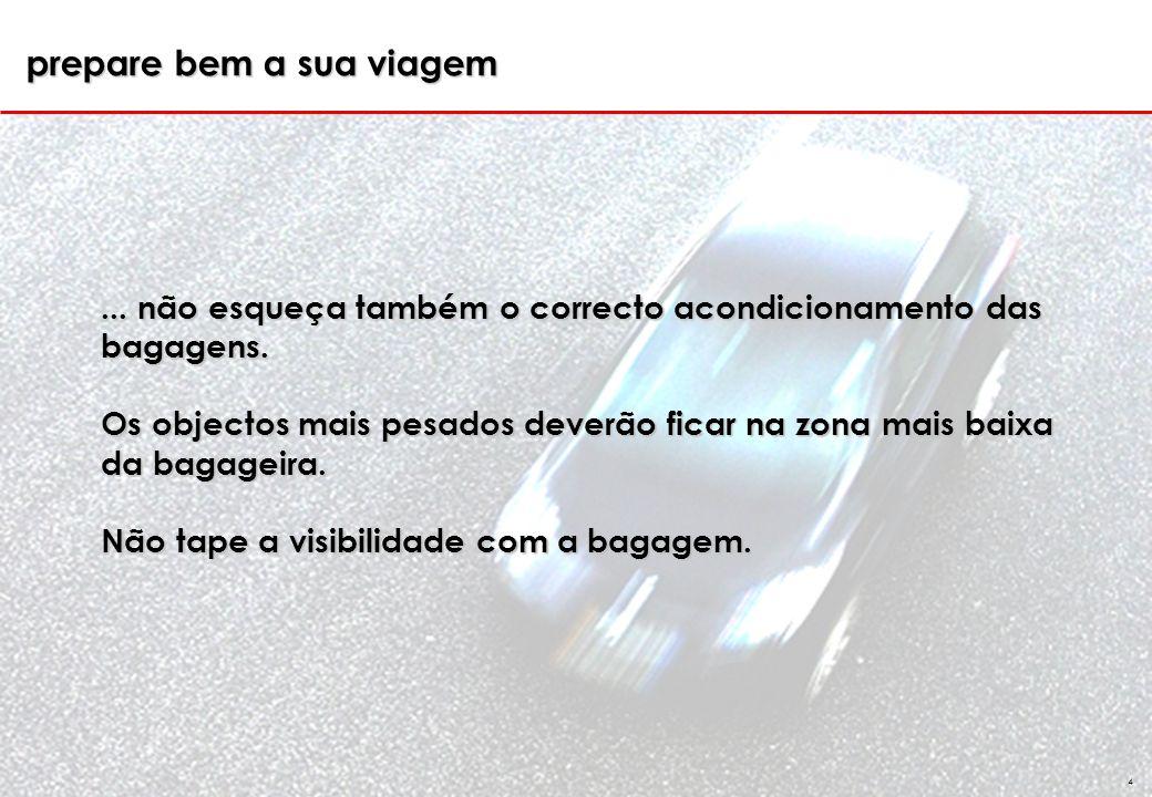 GSS 4...não esqueça também o correcto acondicionamento das bagagens.