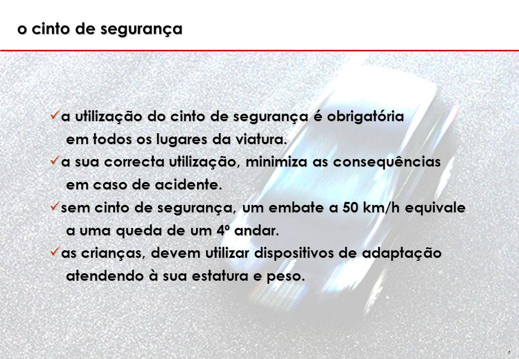 GSS 6 a utilização do cinto de segurança é obrigatória a utilização do cinto de segurança é obrigatória em todos os lugares da viatura.