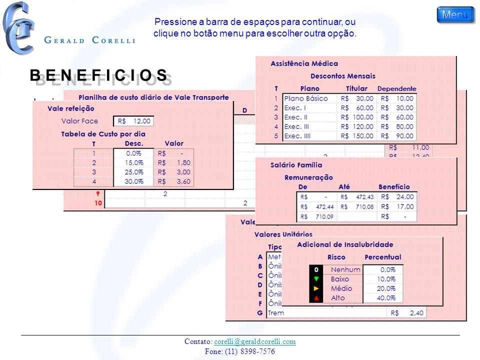 Contato: corelli@geraldcorelli.com Fone: (11) 8398-7576corelli@geraldcorelli.com Insira os valores e percentuais de descontos. As tabelas da planilha