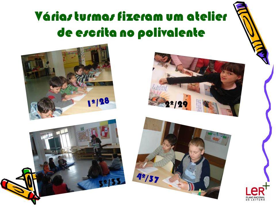 Várias turmas fizeram um atelier de escrita no polivalente 4º/37 1º/28 3º/33 2º/29