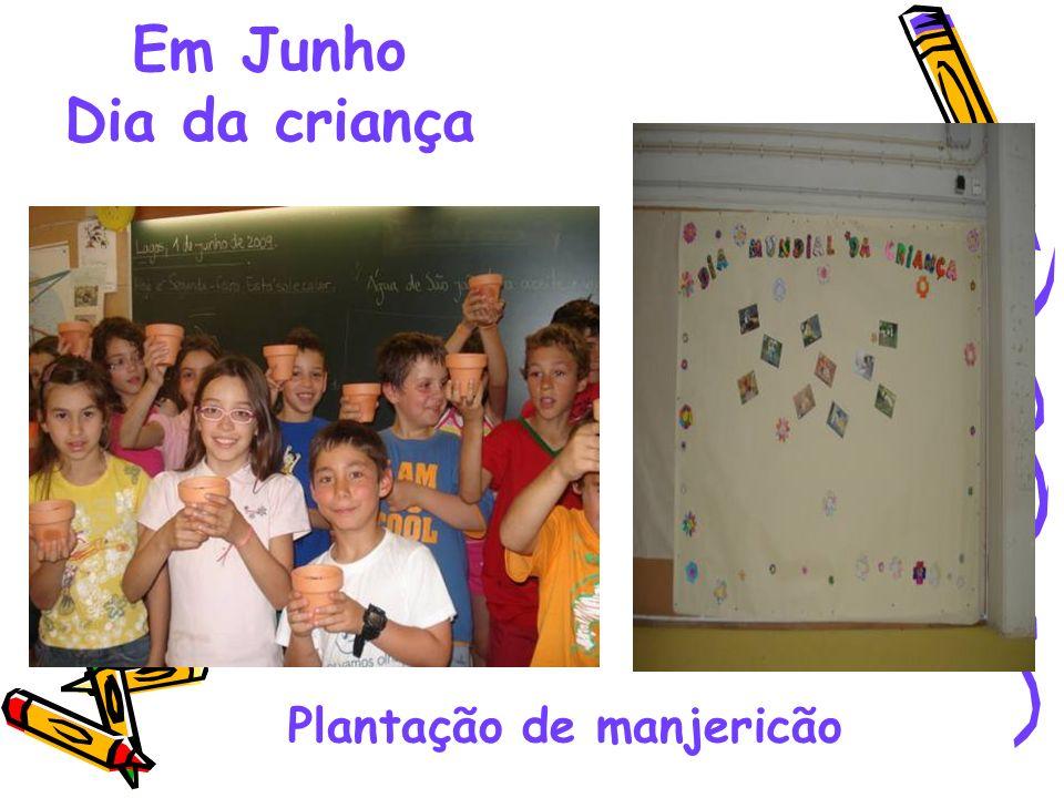Em Junho Dia da criança Plantação de manjericão