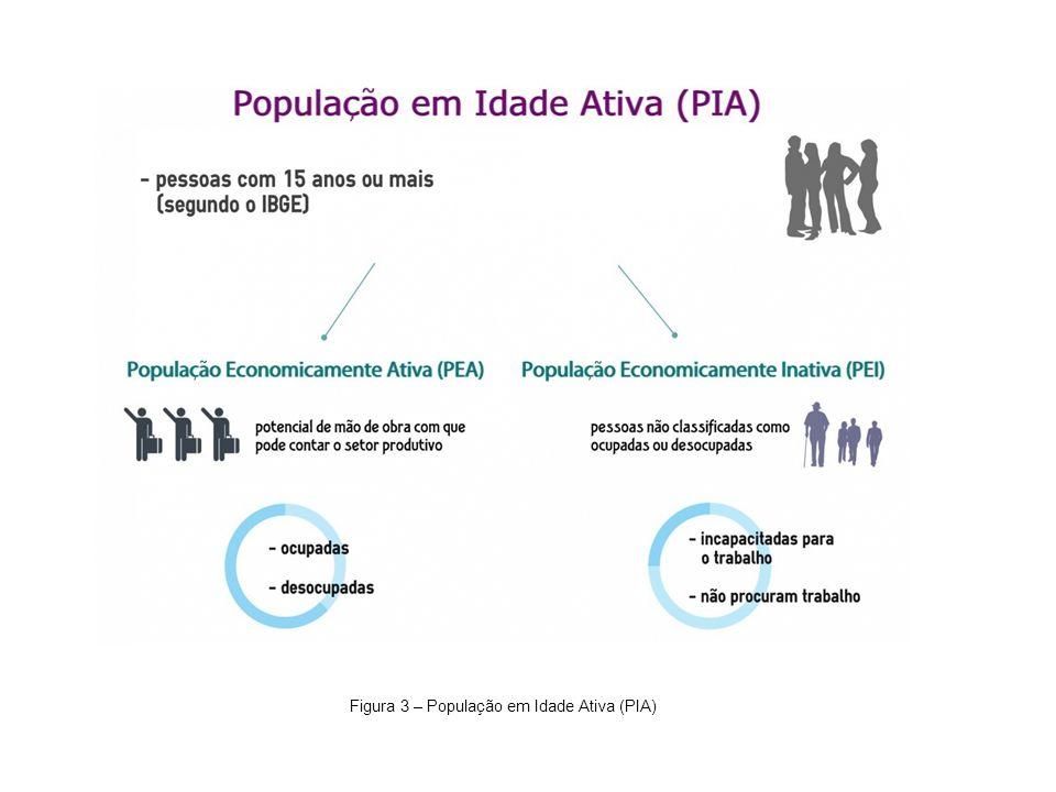 Figura 3 – População em Idade Ativa (PIA)