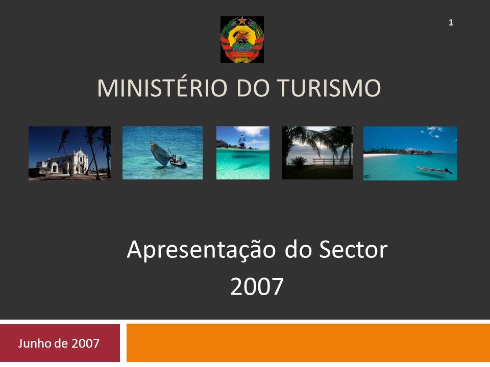 MINISTÉRIO DO TURISMO Apresentação do Sector 2007 Junho de 2007 1