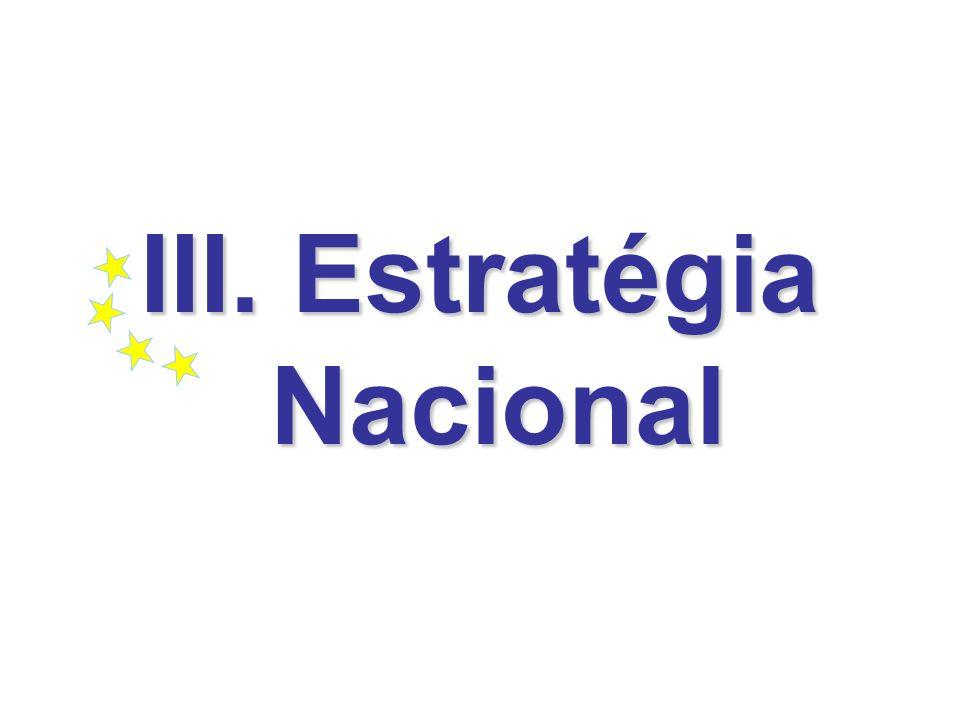 III. Estratégia Nacional
