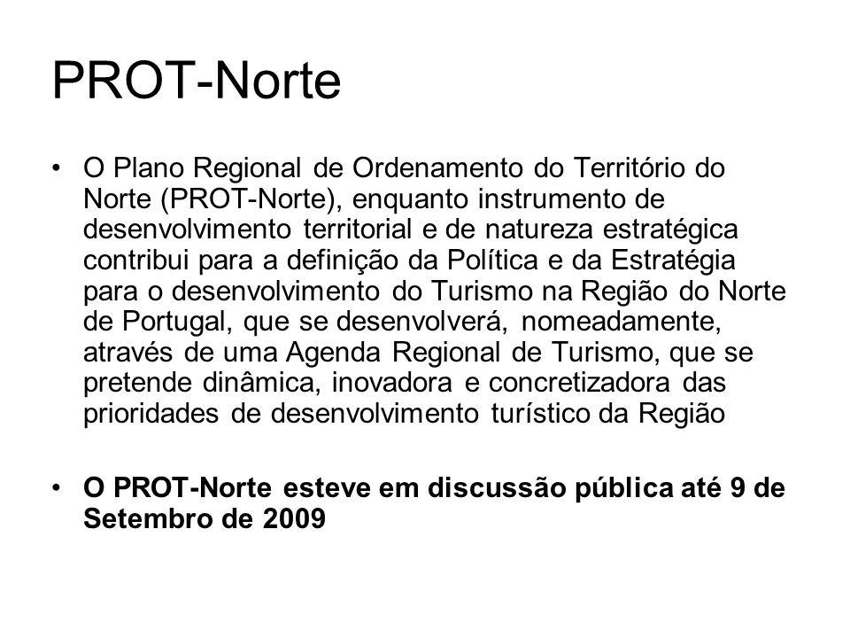 PROT-Norte O Plano Regional de Ordenamento do Território do Norte (PROT-Norte), enquanto instrumento de desenvolvimento territorial e de natureza estr