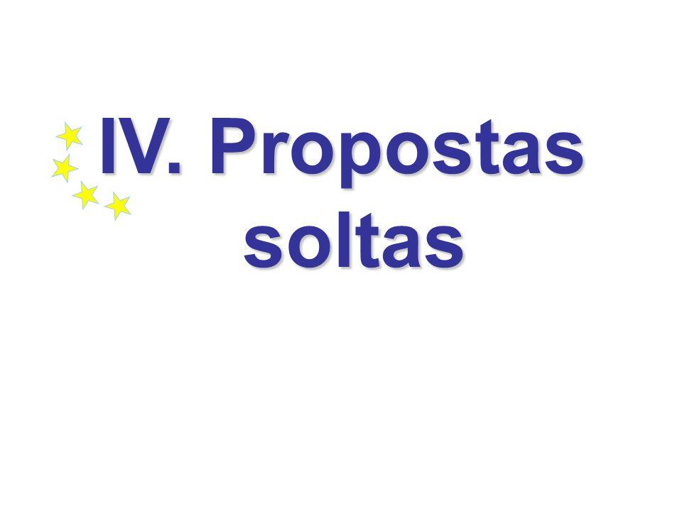 IV. Propostas soltas