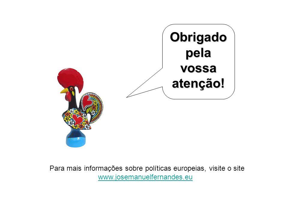 Para mais informações sobre políticas europeias, visite o site www.josemanuelfernandes.eu Obrigado pela vossa atenção!