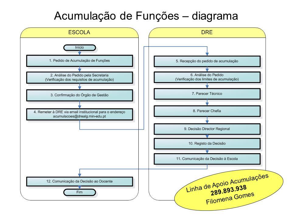 Acumulação de Funções – diagrama Linha de Apoio Acumulações 289.893.938 Filomena Gomes