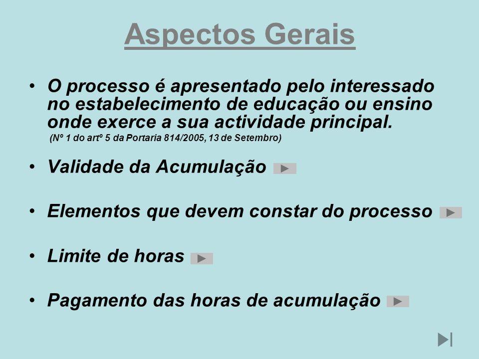 Aspectos Gerais O processo é apresentado pelo interessado no estabelecimento de educação ou ensino onde exerce a sua actividade principal. (Nº 1 do ar