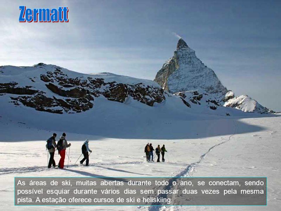 O Matterhorn (Francês Mont Cervin, Italiano Cervino) é talvez a montanha mais conhecida dos Alpes. Localizado na fronteira da Suíça com a Itália, sua