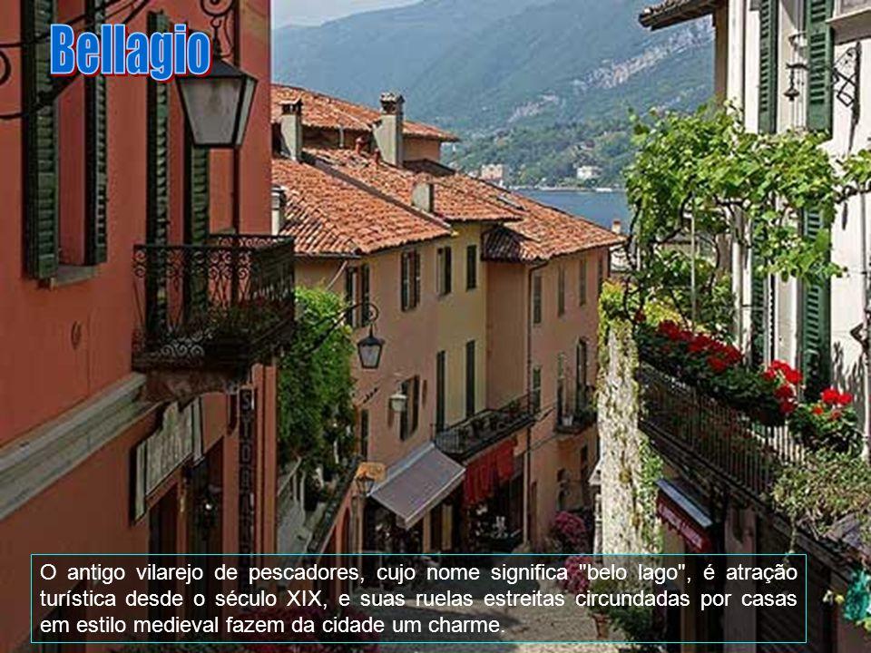 Do perímetro urbano de Bellagio fazem parte os vilarejos Aureggio, Casate, Guggiate Suira, Loppia, Pescallo, San Giovanni, Vergones e Visgnola.