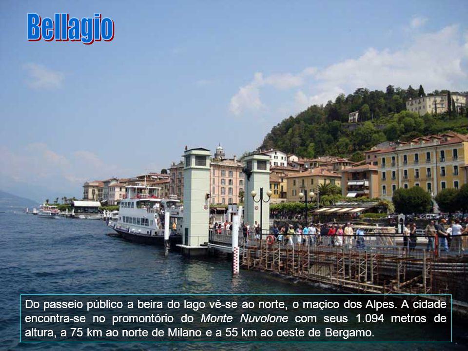 No ponto extremo ao oeste localiza-se a cidade de Como, do lado oposto do triângulo, ao leste, encontra-se Lecco, sendo o ponto extremo ao norte ocupa