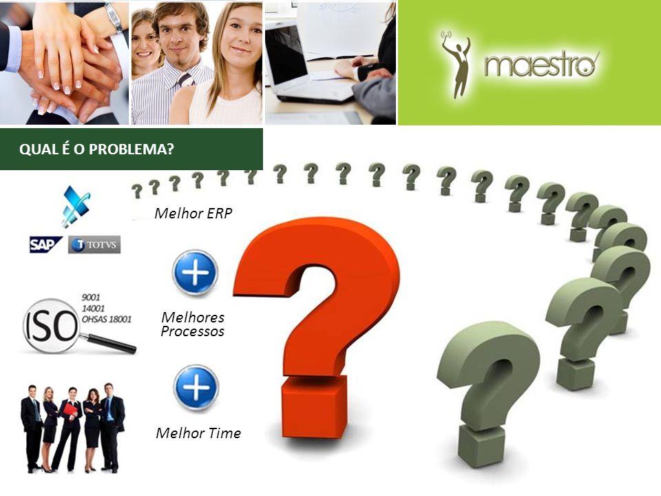 QUAL É O PROBLEMA? Melhor ERP Melhores Processos Melhor Time