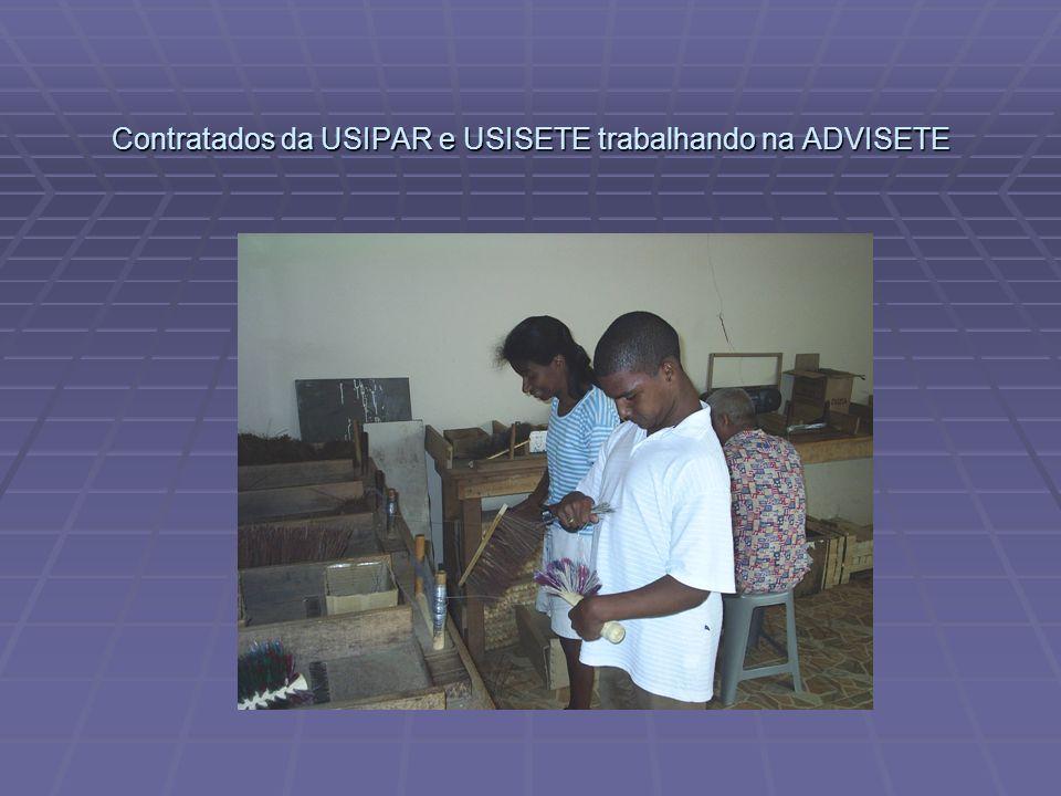 Contratados da USIPAR e USISETE trabalhando na ADVISETE