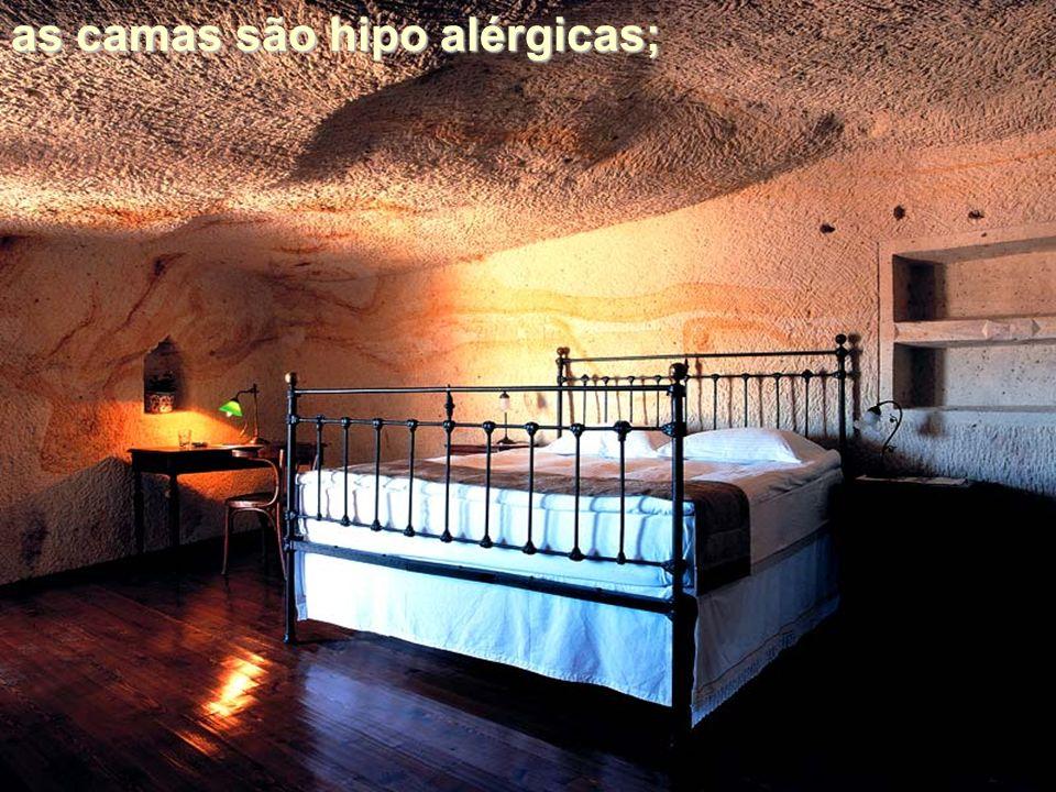 as camas são hipo alérgicas;