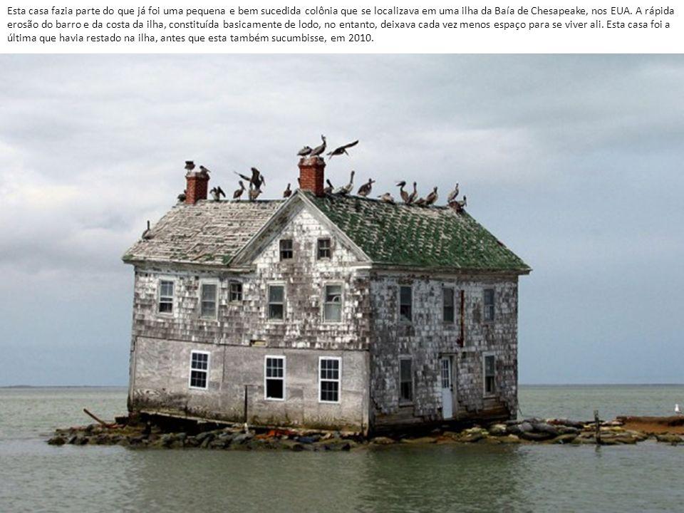 Esta casa fazia parte do que já foi uma pequena e bem sucedida colônia que se localizava em uma ilha da Baía de Chesapeake, nos EUA.