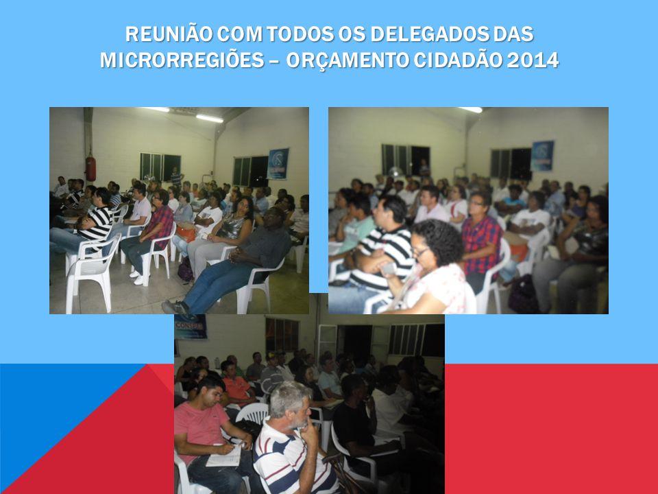 REUNIÃO COM TODOS OS DELEGADOS DAS MICRORREGIÕES – ORÇAMENTO CIDADÃO 2014