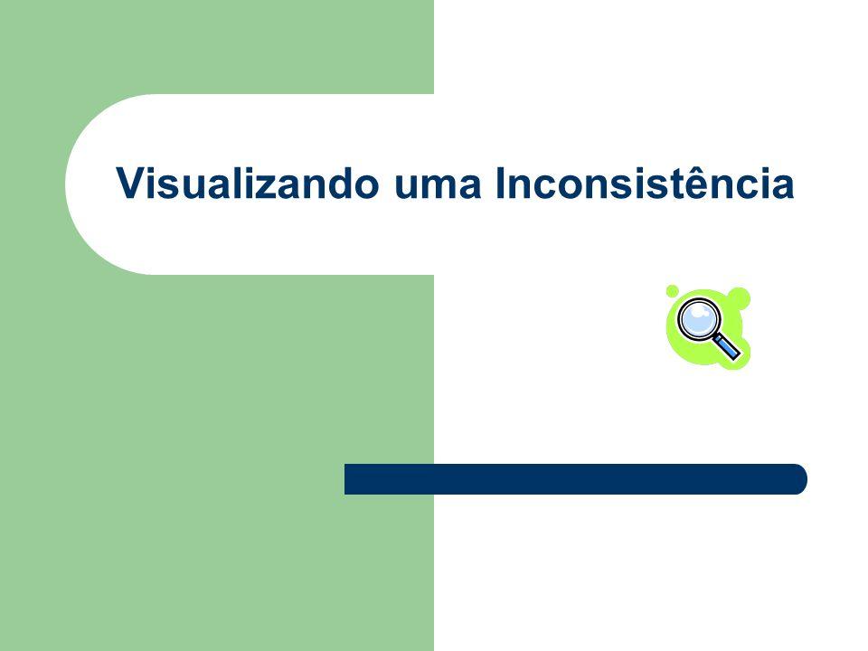 Visualizando uma Inconsistência